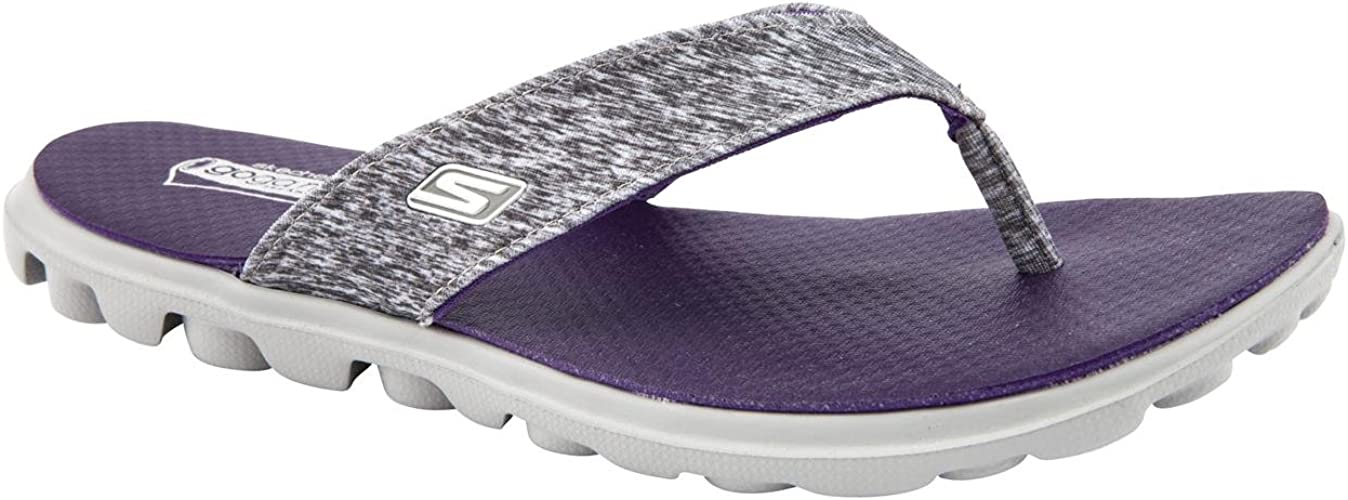 Flow Grey/Purple Flip Flops