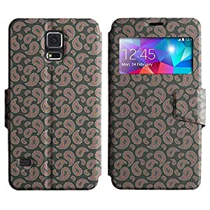 LEOCASE gotas lindas Funda Carcasa Cuero Tapa Case Para Samsung Galaxy S5 I9600 No.1002827
