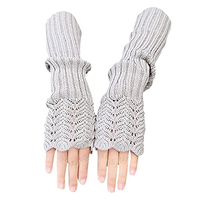 Stofirst Frauen Damen Herbst Winter Stricken Häkeln Long Fingerless ...