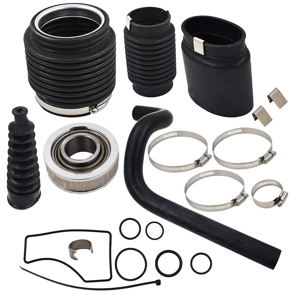 labwork-parts New BellowsTransom Seal W//Gimbal Bearing Reseal Kit for Mercruiser Bravo Bellow