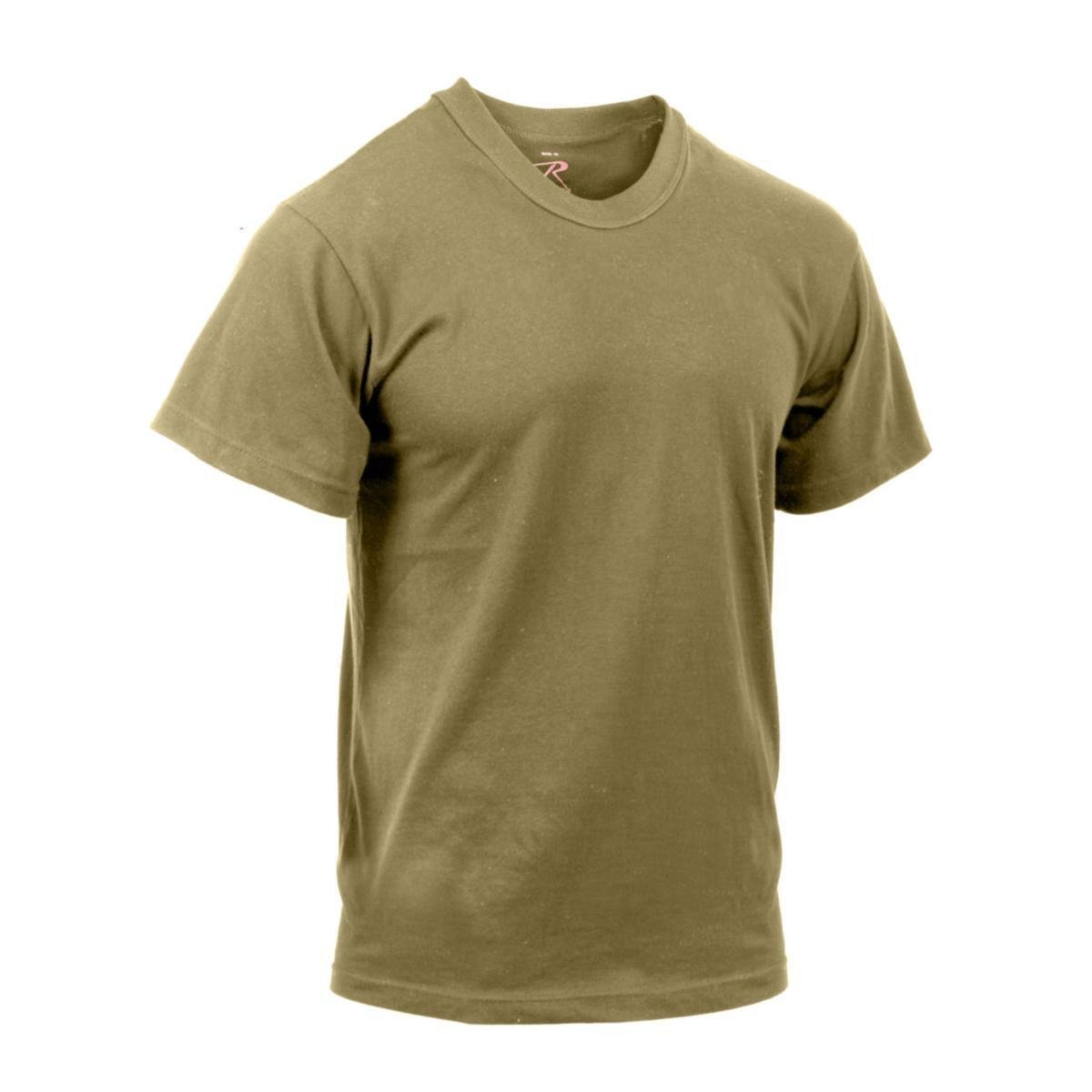 3-Pack of Rothco AR 670-1 Compliant Coyote Brown Military T-Shirts, XL