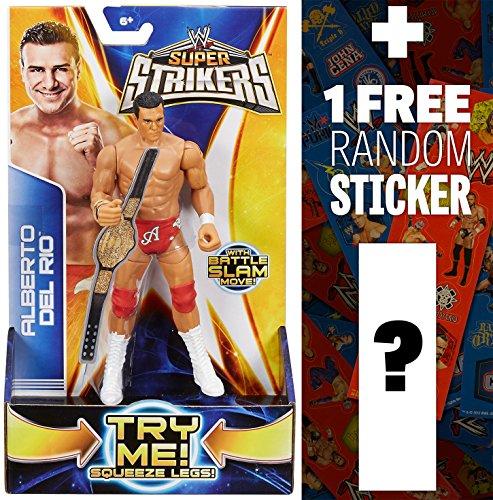 "Alberto Del Rio ~7"" Action Figure: WWE Super Strikers Action Figure Series + 1 FREE Official WWE Mini-Sticker Strip Bundle"