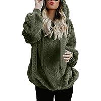 Mujer Sudadera Caliente y Esponjoso Tops Chaqueta Suéter Abrigo Jersey Mujer Otoño-Invierno Talla Grande Hoodie Sudadera…