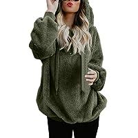 Reaso Sweat Shirt Hooded Sports Femme Automne Tops à Manches Longues Dames Hiver Rayé Sweat-Shirt Coton Sweats à Capuche Blouson Col Rond Casual Pull Elegant Chemisier Streetwear