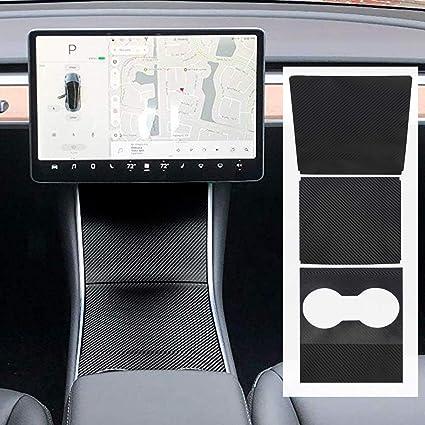 For Tesla Model 3 Armrest Box Control Panel Center Console Vinyl Wrap Kit