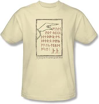 Trevco Hobbit Camisa de película inesperada Viaje Lealtad Puerta Trasera Crema Adulto: Amazon.es: Ropa y accesorios