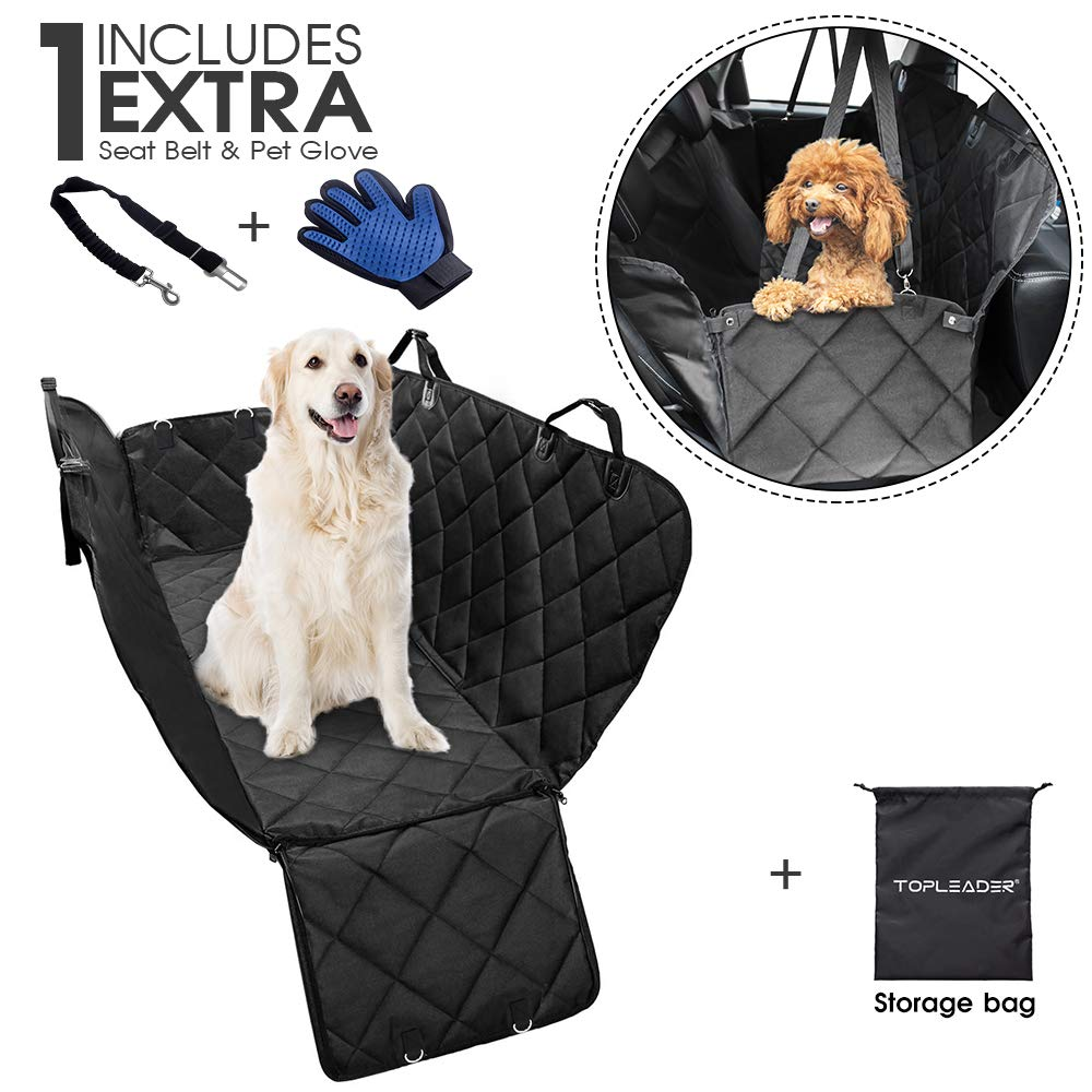 MASTERTOP Dog Seat Covers for car 54x 58 Car Seat Cover for Pets Scratch Proof Nonslip Dog Seat Cover Hammock for Car Truck SUV,Waterproof Pet Seat Cover+Pet Glove+Seat Belt+Travel Bag as a Gift