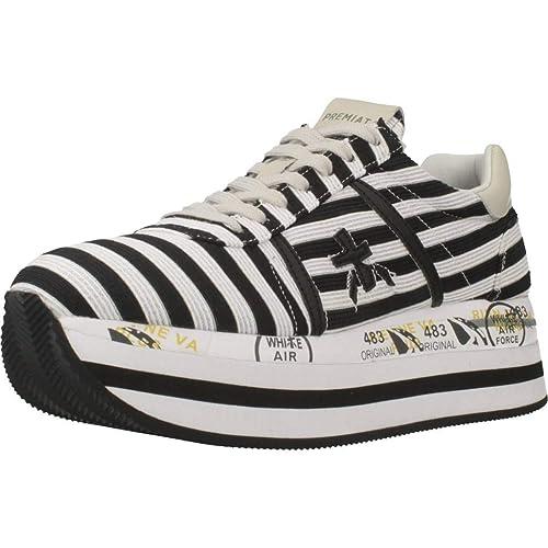20a9b2eaab2 PREMIATA Beth V-2989, Zapatillas Deportivas Para Mujer, Blanco-Negro:  Amazon.es: Zapatos y complementos