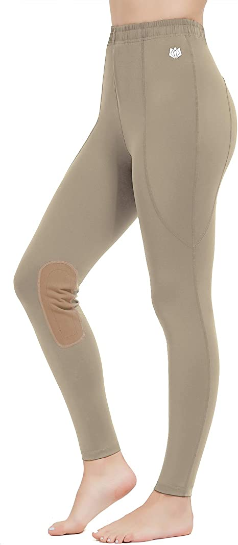 HORZE Elsa Childrens Silicone Knee Patch Tights Horse Riding Leggings for Kids Horse Riding /& Performance Sports Black, Large