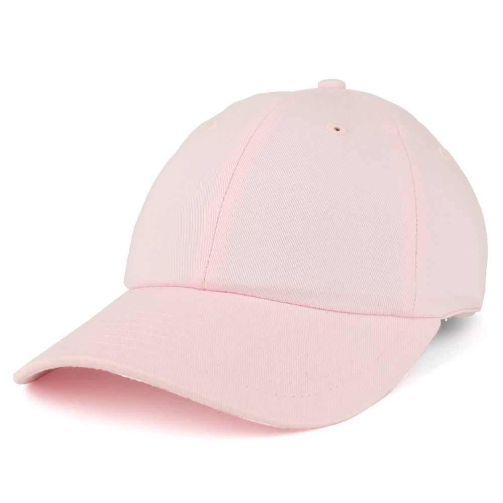 Trendy Apparel Shop Youth Small Fit Bio Washed Unstructured Cotton Baseball Cap - Pink