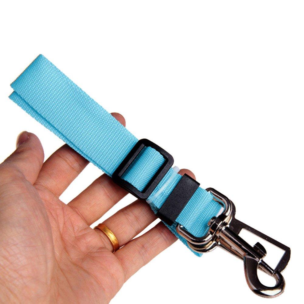Suma-ma Adjustable Vehicle Car Seat Belt Seatbelt Harness Lead Clip Pet Cat Dog Safety with D-Buckle