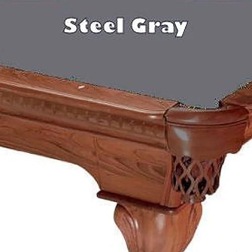 PROLINE 8' Steel Gray ProLine Classic 303 Billiard Pool Table Cloth Felt