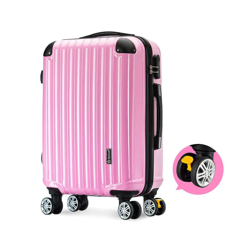 ハードシェルトロリートラベルケーススーツケースハード&フレキシブルケース持ち運び可能な調節可能なハンドル360回転ホイール、4サイズ、ピンク 41*24*59cm  B07MPWY62V