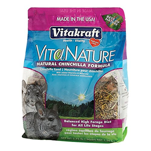 Vitakraft VitaNature Chinchilla Food - Natural Timothy Formula, 2.75 lb. (Food Chinchilla Kaytee)