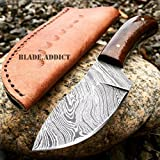 New 6'' HAND MADE REAL DAMASCUS STEEL SKINNER HUNTING EcoGift Nice Knife with Sharp Blade SURVIVAL COMBAT CAMPING- Great For Fun And Practical Use