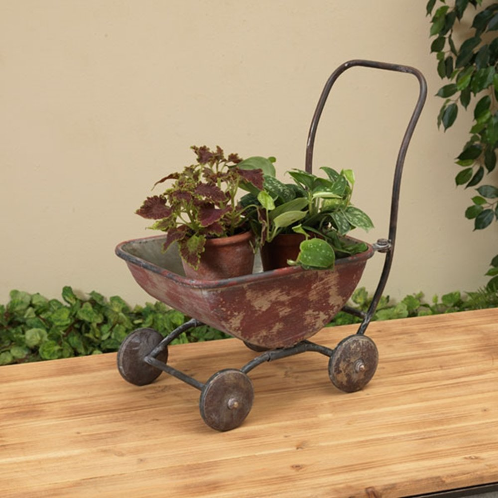 Amazon.com : Very Cute Old Fashioned Vintage Styled Metal Wagon ...