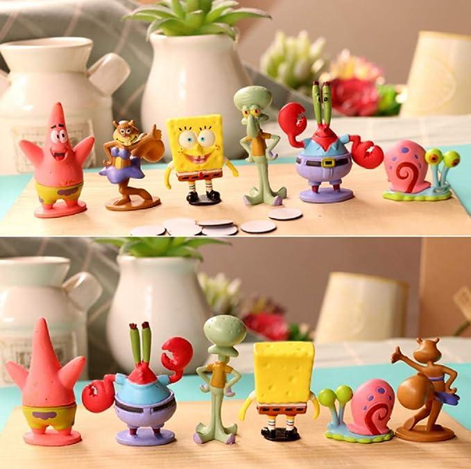 Amazon.com: FunnyToy Spongebob Action Toys - Juego de 6 ...