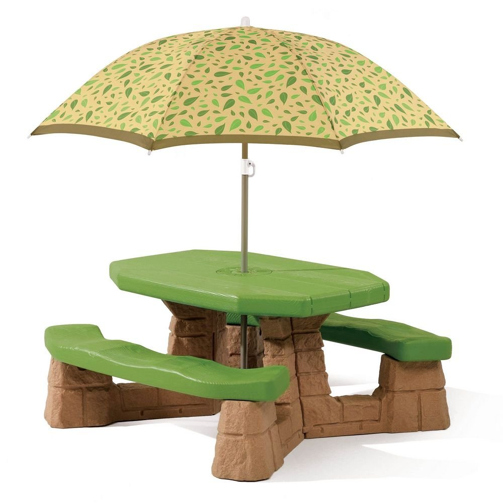 amazoncom step2 naturally playful picnic table with umbrella toys u0026 games