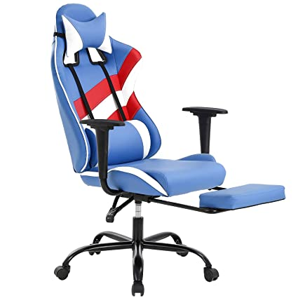 Brilliant Pc Gaming Chair Ergonomic High Back Office Chair Desk Chair Executive Pu Leather Racing Rolling Swivel Computer Chair With Lumbar Support For Bralicious Painted Fabric Chair Ideas Braliciousco