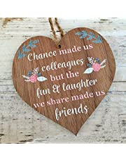 Manta Makes Chance made us Colleagues Fun and Laughter Novelty Wooden Hanging Heart Leaving Gift Plaque Work Friendship Sign