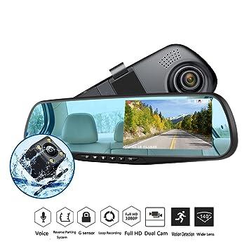 4.3/'/' HD 1080P Car DVR Dual Lens Dash Cam Video Recorder Camera Night Vision
