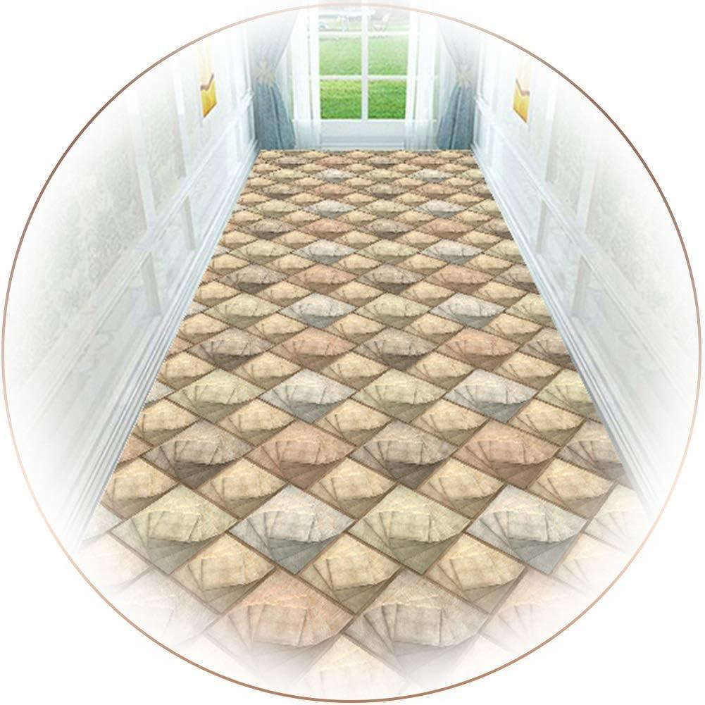 Alfombras de Pasillo Alfombras de Área de Entrada Geométrica, Corredor de Alfombra Extralargo para Dormitorio Interior, 100/200/300/400/500/600cm de Largo (Size : 0.8×4m(31.5×157 in))