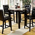 """Furniture of America CM3188PT-40 Atlas IV 40"""" Round Counter Height Dining Tables"""