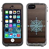Skin Decal for LifeProof Apple iPhone 5C Case - The Compass on Wood
