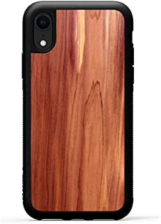 product image for Carved - iPhone XR - Luxury Protective Traveler Case - Unique Real Wooden Phone Cover - Rubber Bumper - Eastern Red Cedar