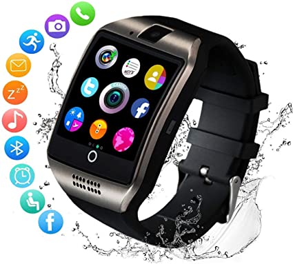 Amazon Com Smart Watch Smartwatch For Android Phones Smart Watches Touchscreen With Camera Bluetooth Watch Phone With Sim Card Slot Watch Cell Phone Compatible Android Samsung Ios Phone Xs X8 7 10 11 Men