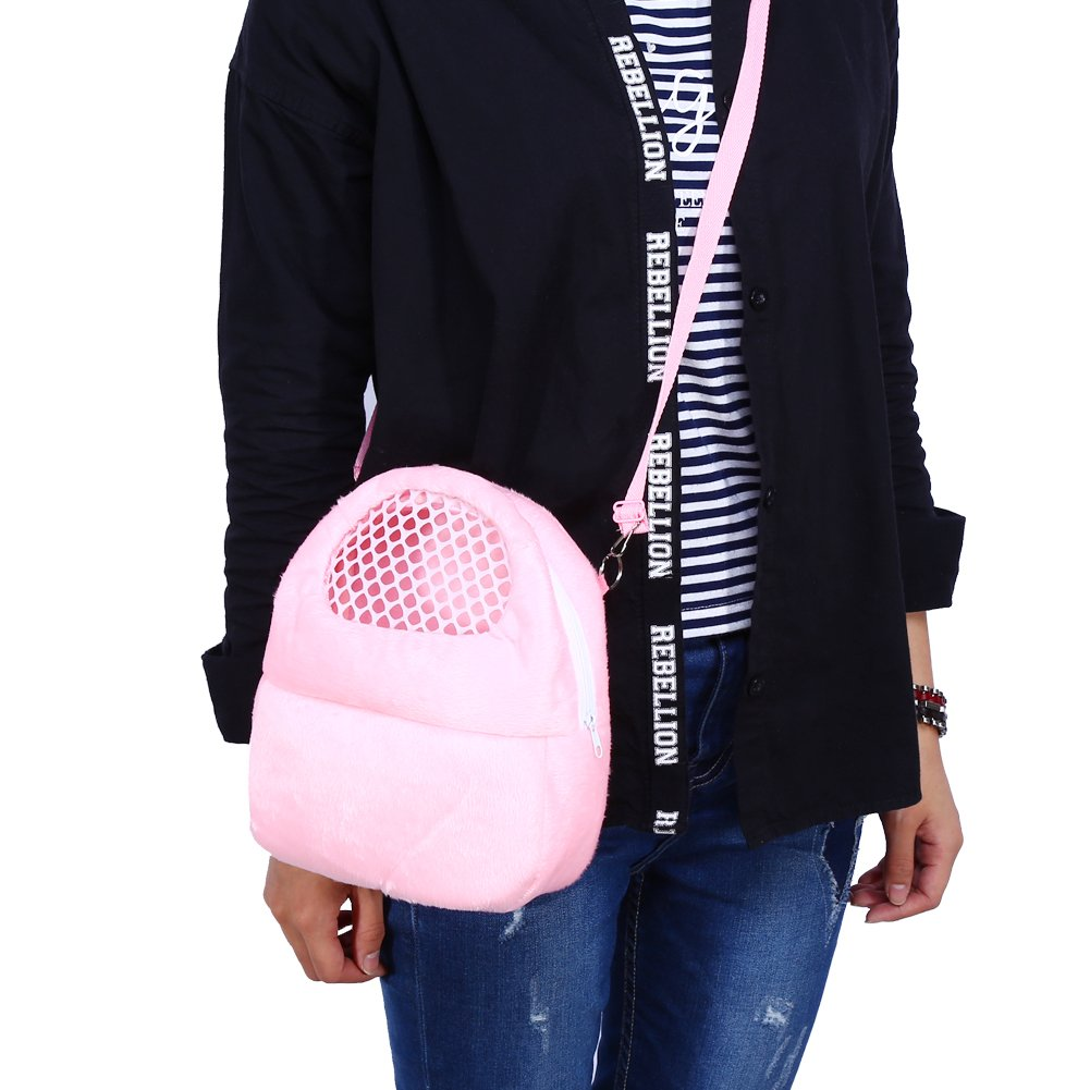Pink Delaman Hedgehog Hamster Rat Carrier Breathable Pet Bags Handbags Puppy Cat Travel Backpack
