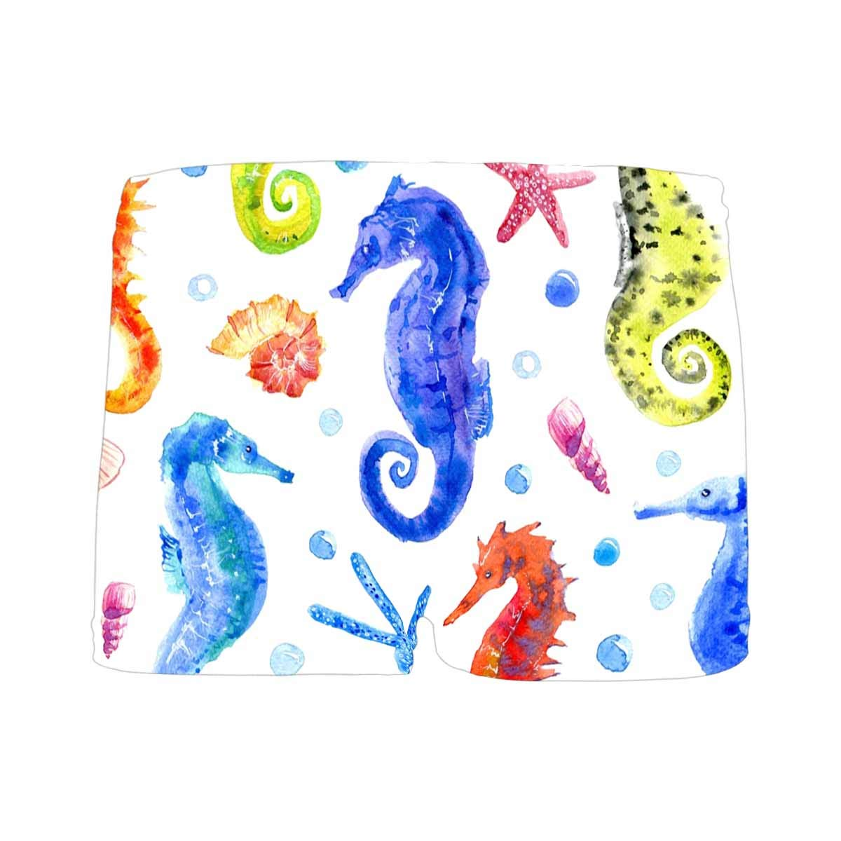 INTERESTPRINT Kids Seahorse Starfish and Bubbles Pattern Comfortable Breathable Briefs Shell 5T-2XL