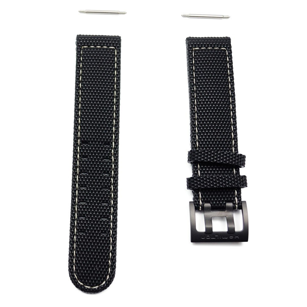Hamilton Khaki Field rubber strap with buckle black titanium H600.705.113