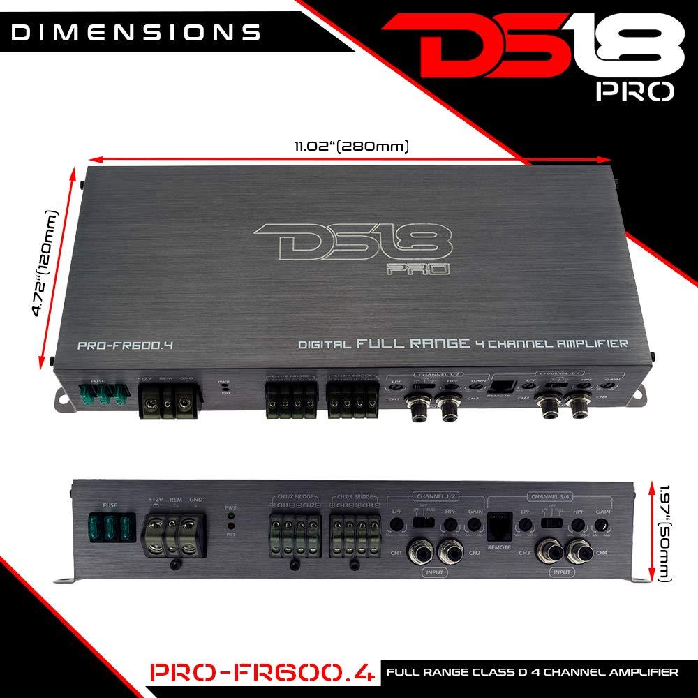 Ds18 Pro Fr6004 Full Range 600 Watts Max Class D Four Amplifier Using Tda2009a 12 Watt 15x2 Audio Channel Smc Technology Cell Phones Accessories