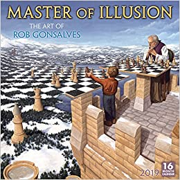 2019 master of illusion the art of rob gonsalves 16 month wall