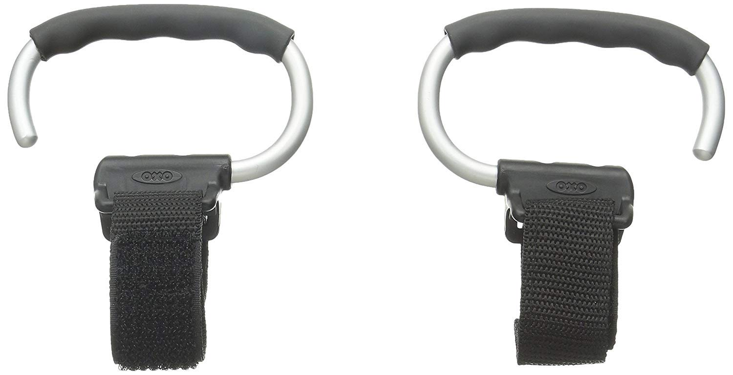 OXO Tot Handy Stroller Hook, Grey (4 Pack) by OXO (Image #7)