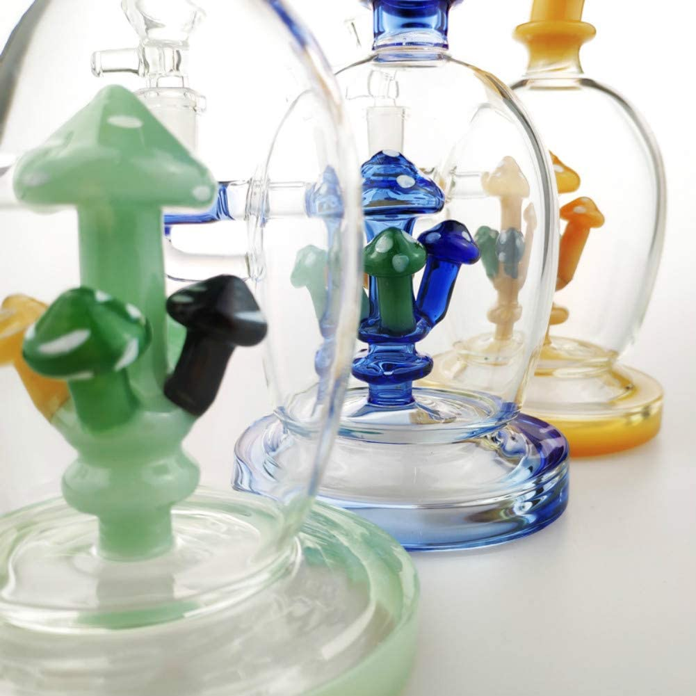 Blue YangShop 7.5 Inch Mushroom Shape Glass Vase Unique Percolator Glass Crafts