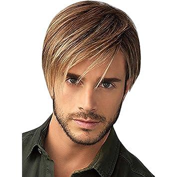 HSHU Perruque Homme,des Cheveux Court Et