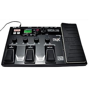 douself Procesador NUX MFX-10 Modelado Guitarra guitarra pedal de efectos de percusión Grabadora Efecto