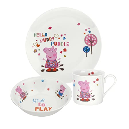 Portmeirion Peppa Pig 3-Piece Plate/ Bowl/ Mug Set Multi-Colour  sc 1 st  Amazon UK & Portmeirion Peppa Pig 3-Piece Plate/ Bowl/ Mug Set Multi-Colour ...