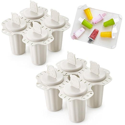 Daycount - Molde de plástico para helado, 4 celdas, moldes para ...