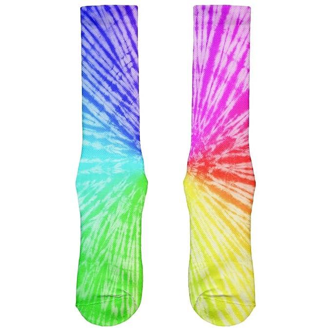Arco iris Pride Tie Dye LGBT All Over Crew Calcetines, Hombre, color multicolor, tamaño 46: Amazon.es: Ropa y accesorios