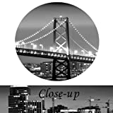 Kreative Arts - San Francisco Bay at Night in Black and White Bridge 3 Panels Modern Landscape Artwork Canvas Prints Cityscape Pictures Paintings on Canvas Wall Art for Home Decor