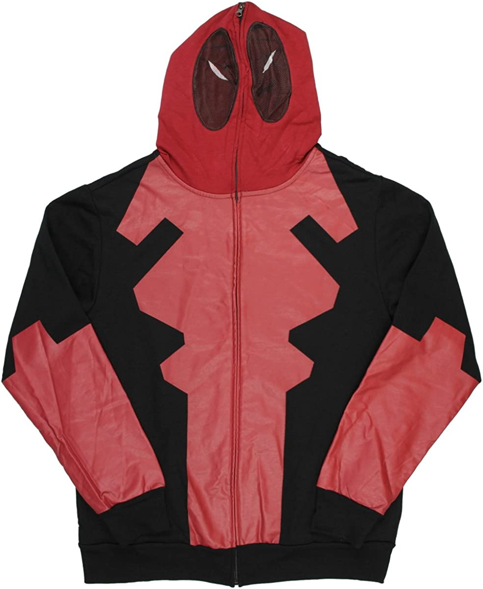 UK Seller Official Costume Marvel Mad Engine Deadpool suit zip-up Hoodie