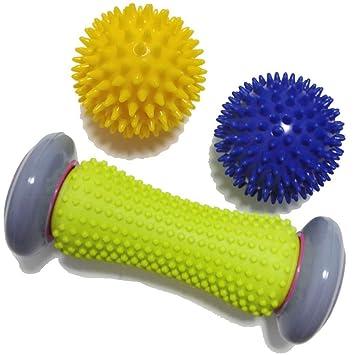 Rodillo de masaje para pies con bola de pico, masajeador para ...