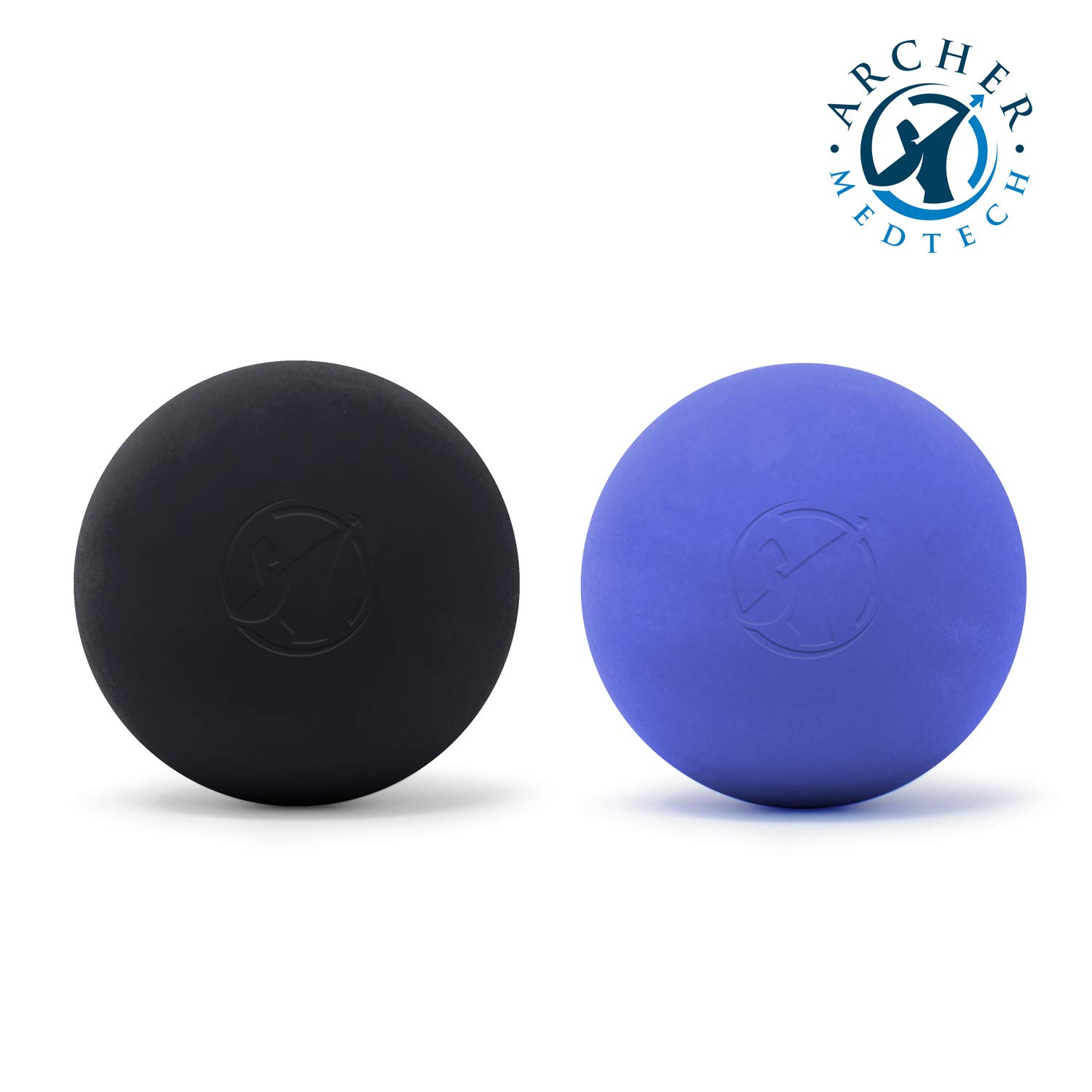Lacrosse Ball Massage Ball 2 Pack, 2 Muscle Roller Massage Balls for Physical Therapy, Yoga, Crossfit,...