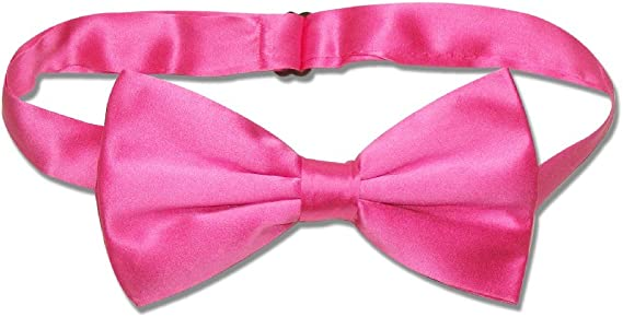 Solid Hot Pink Self-Tie Bow Tie