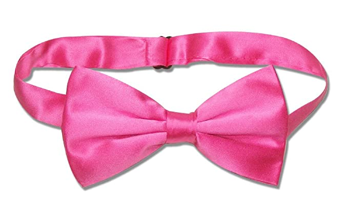 a0b465f3958e Image Unavailable. Image not available for. Color: 100% SILK BOWTIE Solid  HOT PINK ...