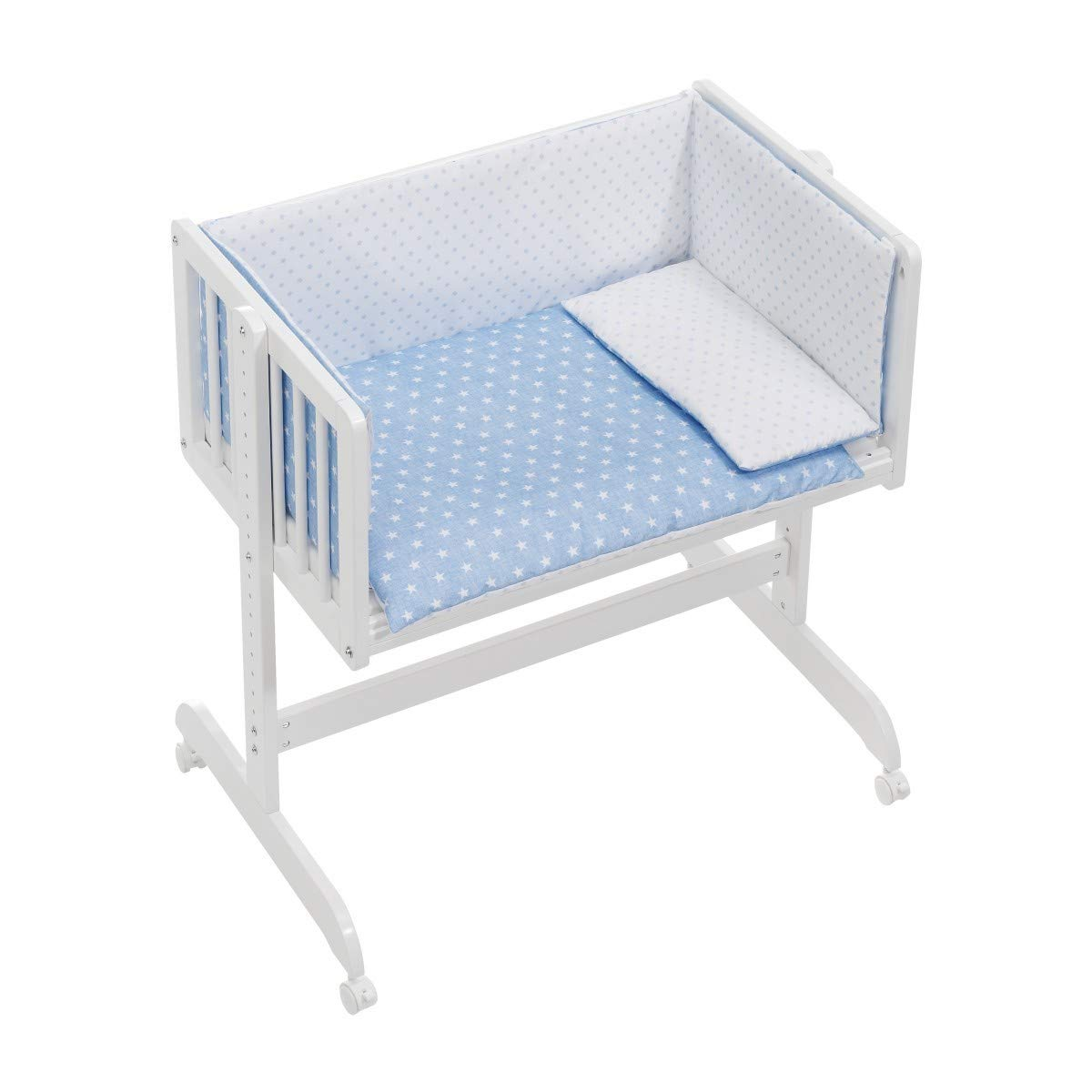 Interbaby Cuna Colecho + Textil Star Azul: Amazon.es: Juguetes y ...