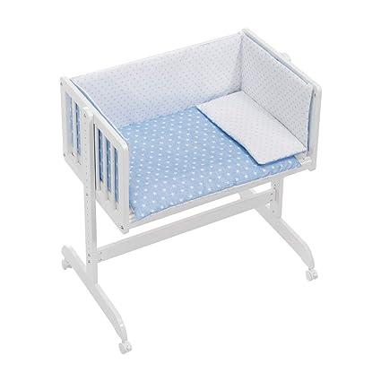 Interbaby Cuna Colecho + Textil Star Azul